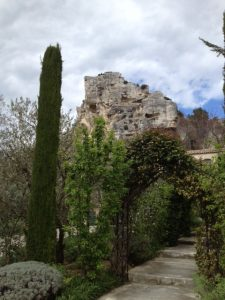 1. A Cypress tree, which is Provence's symbolic tree and ruins from Roman times.